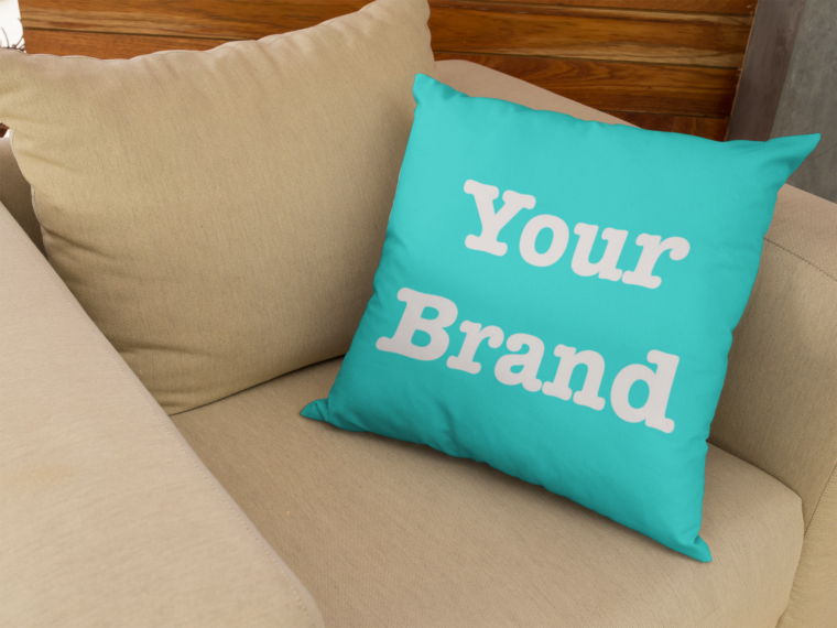 brand merchandising mockup - pillow