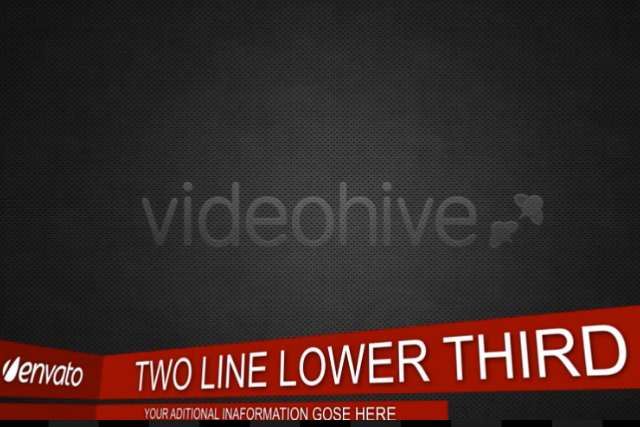 two line lower thirds