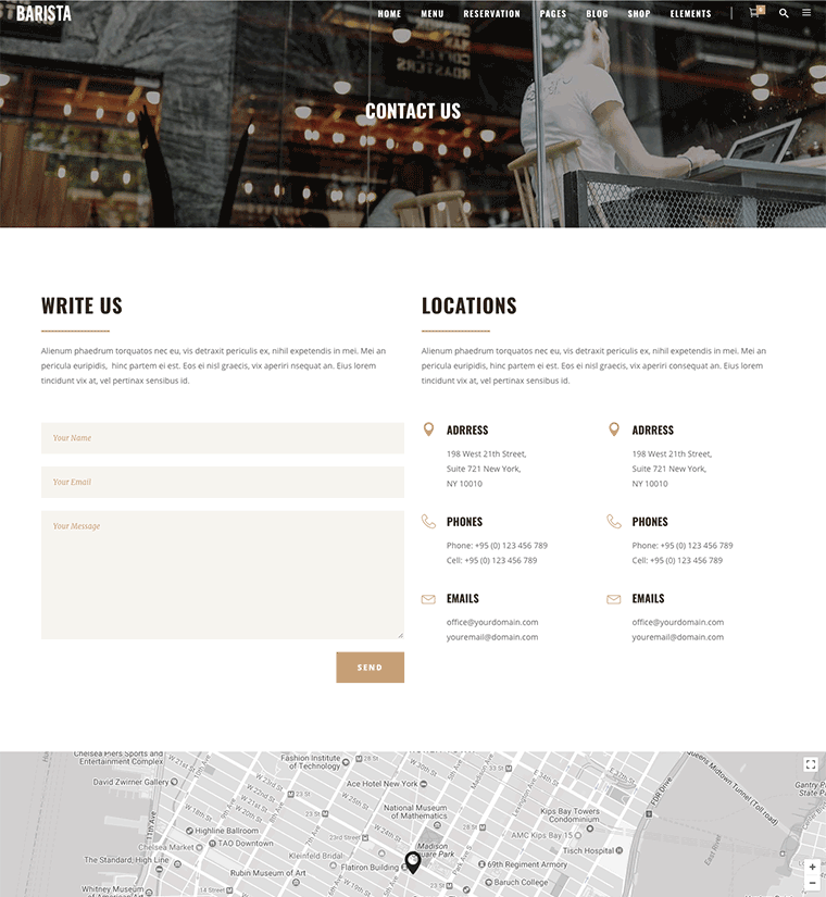 Barista – A Modern Theme for Cafes, Coffee Shops and Bars